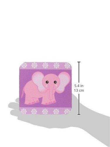 Set of 8 3dRose cst/_6098/_2 Pink Baby Elephant Soft Coasters
