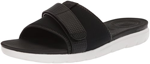Fitflop Women's Neoflex Slide Open Toe Sandals Black (Black Mix 231) nkz3ikAkd