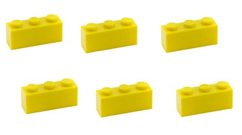Lego Parts: Brick 1 x 3 (PACK of 6 - Yellow)