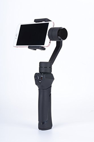 """Tryfly 3 Axis Handheld Steady Gimbal PTZ Camera Mount for all Smart Phones within 7"""" Screen and Sports camera,12hrs Run-Time, Buttons to Photo/Record/Selfie/Video shooting - Black"""