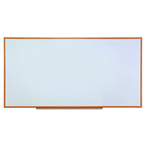 Universal Dry Erase Marker Board, Melamine, 96 x 48, Oak Wood Frame by Universal