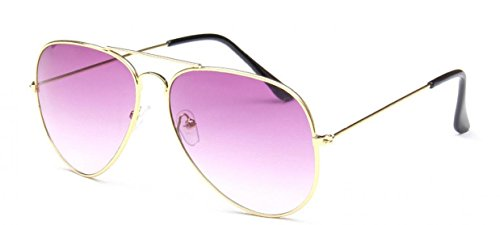 Metal morado con lente Gafas de Aviator Espejo WODISON Frame Vintage Reflective bolsa sol CUSwXSFKZq