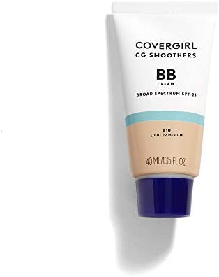COVERGIRL Smoothers Lightweight BB Cream, 1 Tube (1.35 oz), Light to Medium 810 Skin Tones, Hydrating BB Cream with SPF 21 Sun Protection (packaging may vary)