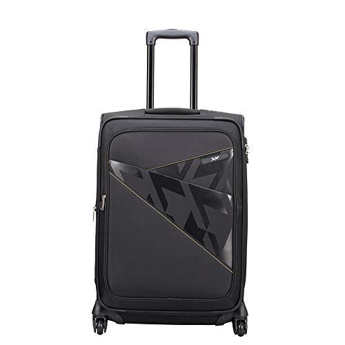 Skybags Footloose Wellington Polyester 66 cms Black Softsided Suitcase (STFWE66EBLK)