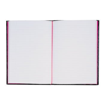 Pink & Black Prof Casebound Notebook, Ruled, 11 5/8 X 8 1/4, 96 Sheets