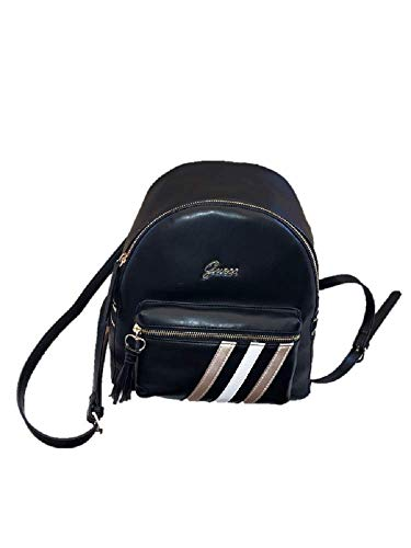 Bag Faux Guess New Backpack Authentic Black Leather Medium pXcSw
