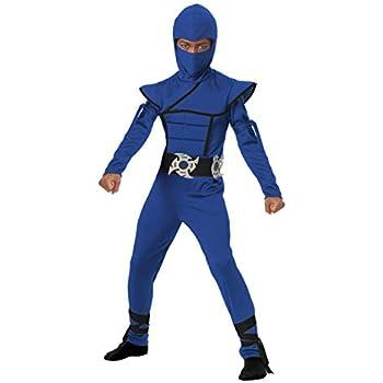 California Costumes Stealth Ninja Child Costume (Blue), Small