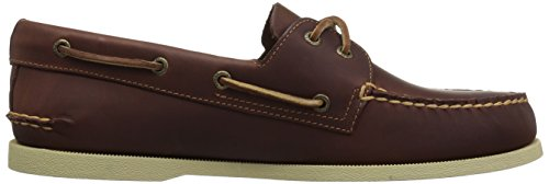 Sperry Mens A/O 2-Eye Boat Shoe, Tan Pullup, 12