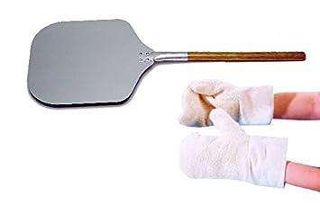 pizzaschaufel 79 cm + hitzeschutzhandschuhe - pizzaset nr. 1 ... - Hitzeschutzhandschuhe Küche