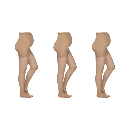 (Silky Toes Maternity Support Sheer Pantyhose for Pregnancy (X-Large, Nude - 3)