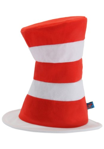 Cat In A Hat Costumes (Dr. Seuss Cat in the Hat Adult Tricot Hat by elope)