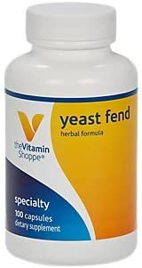 The Vitamin Shoppe Yeast Fend, Herbal Formula for Women, Contains Caprylic Acid, Lactobacillus and Herbs 100 Capsules