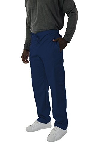 Waist Elastic Two Pocket (Spectrum Trouser/Cargo/Scrub Pants with Drawstring, Elastic Waist, 2 Side and One Back Pocket for Outdoor and Casual Wear - 8X - Royal Blue)