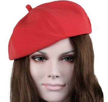 S Cloth Red Fashion Spring Autumn Warm Women Girls Felt French Beret Beanie Hat Cap