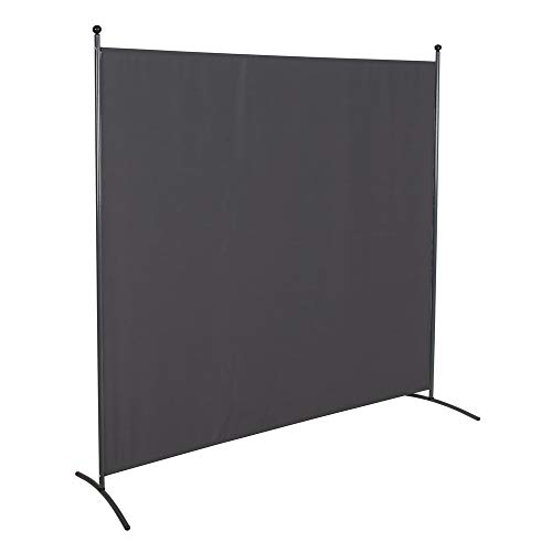 STEELAID Office Partition Room Divider 72 inch Privacy Screens 6 Ft Portable Partition Screen (Updated with Thicker Non See Through Fabric)