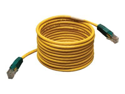 Tripp Lite Cat5e 350mhz Molded Cross-over Patch Cable Rj45 M/M - Crossover Cable - 25 Ft - Yellow