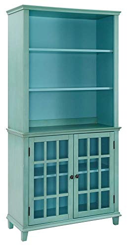 Display Cabinet in Antique Turquoise (Antique Turquoise Furniture)