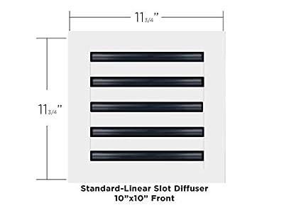 10X10 Standard Linear Slot Diffuser
