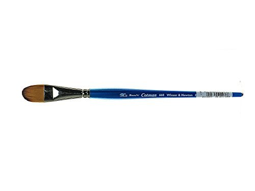 Winsor & Newton Cotman Water Colour Series 668 Short Handle Synthetic Brush - Filbert 3/4 Size: 3/4 Style: Series 668 Filbert, Model: 5368119, Office Shop by Business & School Supply