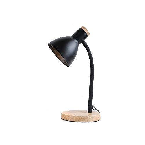schwarz HWZQHJY Schreibtischlampe Nightstand Lighting LED Schreibtischlampe Schreibtischlampe, Nordic Wrought Iron Kreative Mode Tischlampe zum Lesen, Lesen Studie Arbeitslampe Licht (Farbe   schwarz)