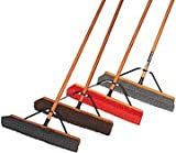 libman professional broom - LIBMAN Black Recycled PET Heavy Duty Push Broom with Handle