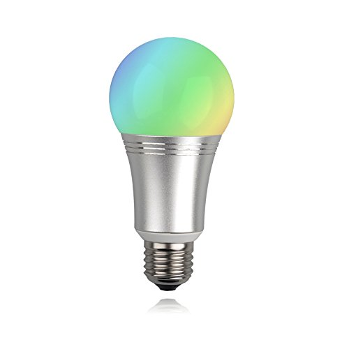 Hank Z-Wave Plus RGBW LED Dimmable Bulb, Warm and Cool White, 16 Million Colors, Works with Vera and SmartThings