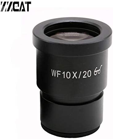 Mercury/_Group WF10X//20mm Eyepieces Wide Angle High Eye Point Mounting Size 30mm Microscope Eyepiece for Stereo Microsocpe Color:1PC Without Reticle
