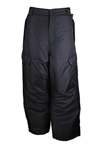 Arctic Quest Mens Insulated Ski Snow Pants with Cargo Pockets Black Medium