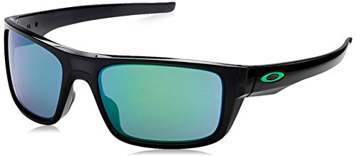 Oakley Men's Drop Point Non-Polarized Iridium Rectangular Sunglasses, BLACK INK, 60 ()