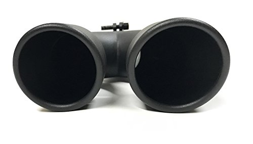 PAIR OF TWO FLAT BLACK UNIVERSAL DUAL EXHAUST TIPS 3