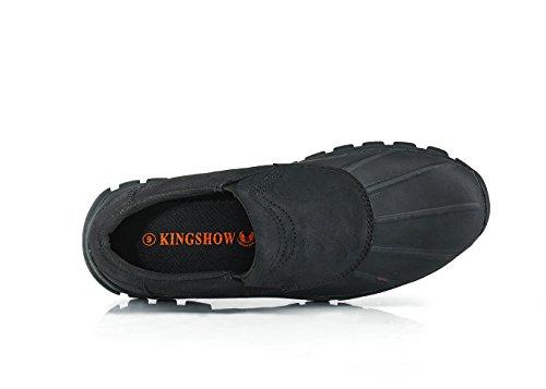 Kingshow Mens M1525 Chaussures De Bateau Noir-1520-2