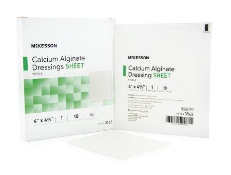 Alginate Dressing Box - McKesson Calcium Alginate Dressing, White - Box of 10