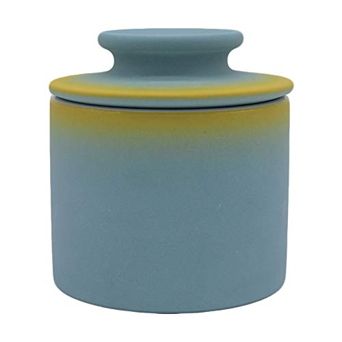 Windomere Handmade Porcelain Butter Keeper Crock - French Butter Dish - 4Ounce Capaicty,Blue