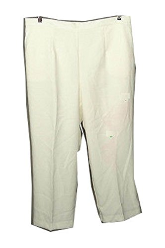 Alfred Dunner Oscar Night Proportioned Short Pants, Ivory, 18W Short