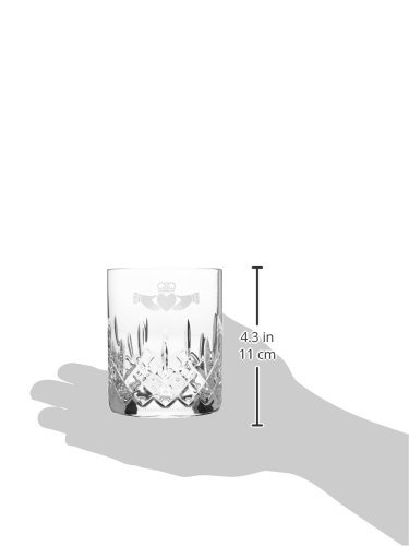Galway Claddagh Large Double Old Fashioned Pair by Galway Crystal (Image #1)