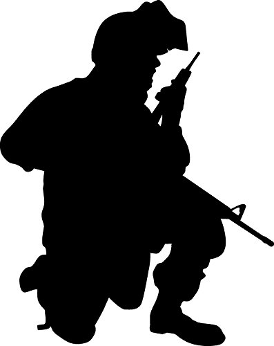 amazon com haynes military soldier ii silhouette wall decal cutout