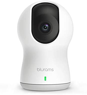 blurams Dome Pro, 1080p Security Camera with Siren PTZ Surveillance System with Facial Recognition, Human Sound Detection, Person Alerts, Night Vision Cloud Local Available Works with Alexa