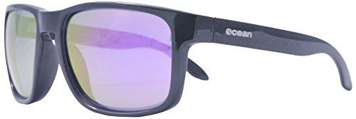 Ocean Sunglasses - Blue Moon - lunettes de soleil polarisées  - Monture : Blanc Transparent - Verres : Revo Violet (19202.16)