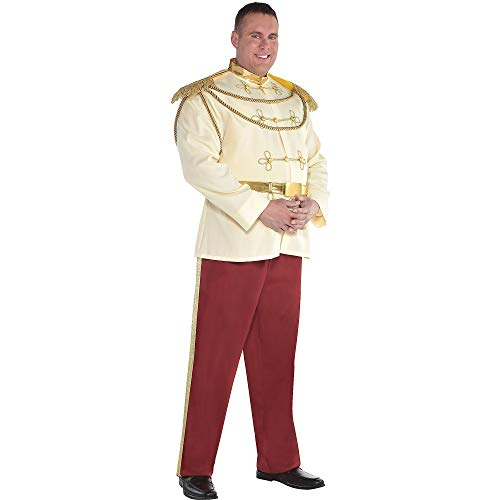 SUIT YOURSELF Prince Charming Halloween Costume for Men, Cinderella, Plus Size -