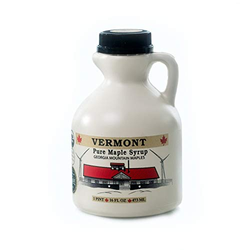 Georgia Mountain Maples of Vermont, Organic Maple Syrup, Amber Color Rich Taste, 16 oz (Vermont Syrup Maple)