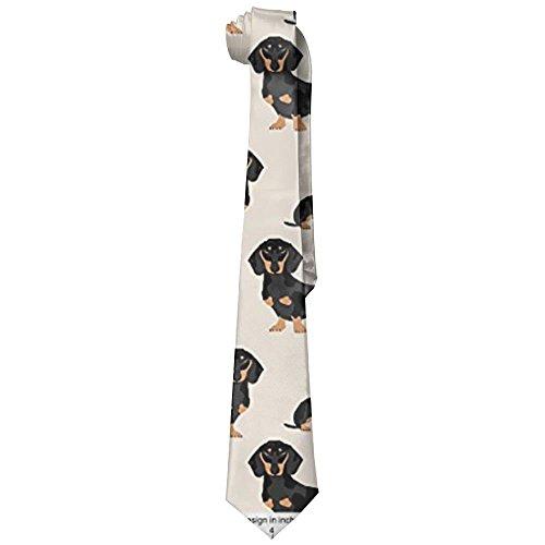 Wiener Dog Fabric Doxie Dachshund Weiner Dog Pet Dogs Neckties Fashion Silk Tie Sets For Men Teen boys