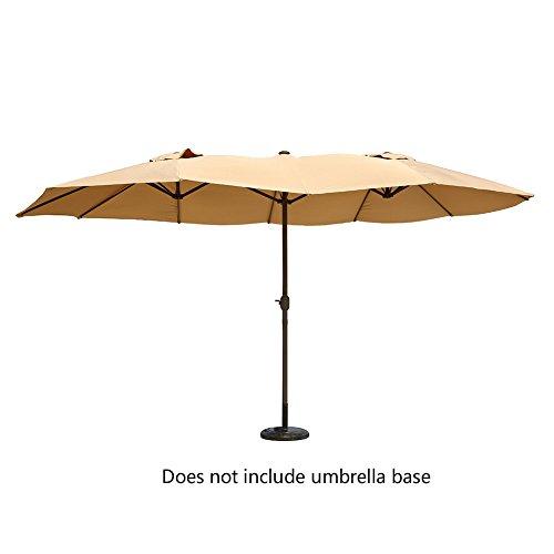 Le Papillon 14 Ft Outdoor Umbrella Double Sided Aluminum Market Patio  Umbrella With Crank