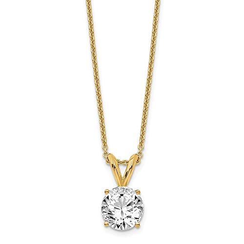 14k Yellow Gold 3/4ct. Round Certified Lab Grown Diamond SI1/SI2, G-H Solitaire Pe