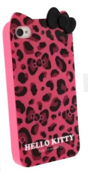 67b82fd8d Image Unavailable. Image not available for. Color: Hello Kitty Leopard &  Bow case for Apple ...