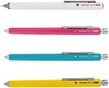 NBP-887H-PK No.897NP Ohto Needle-Point Horizon EU Pen Ballpoint Pen 0.7 mm - Pink Body with Two Extra Refills