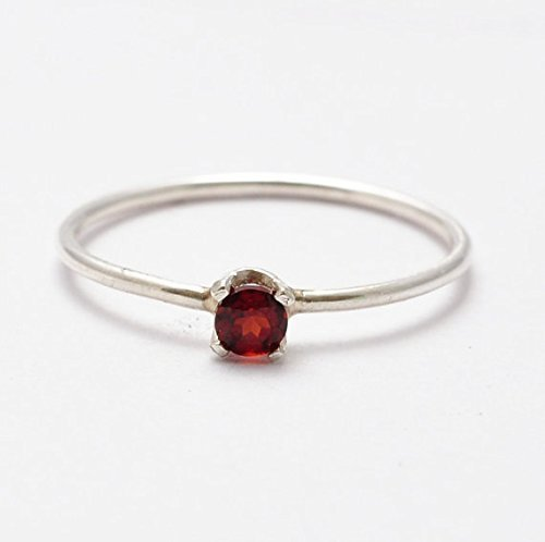 garnet-rings-simple-sterling-silver-jewelry-gift-ideas-for-wife