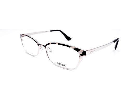 (Prada 50RV - KAD101 Eyeglass Frame Silver White 54mm)