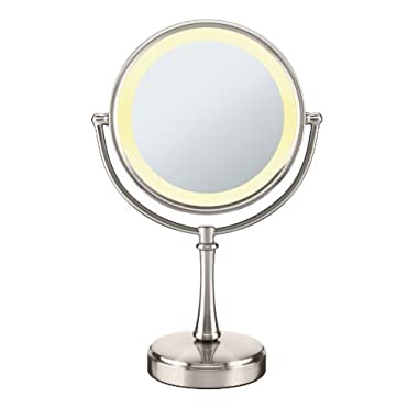 Conair Touch Control Double-Sided Lighted Mirror - Satin Nickel Finish