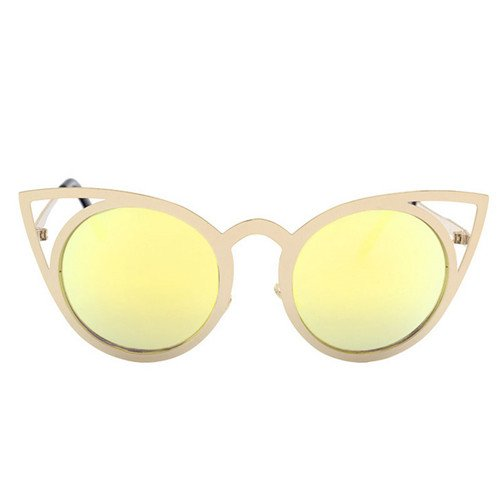 UV400 Unas enormes Sol Gafas E Mujeres Sol de Sunglasses Gótico Gafas de Cat Bastidor Señor Gafas Steampunk Eye TL Espejo D nx0Swq87Fx