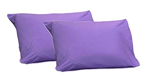 Arkwin Home Products 100% Jersey Knit Cotton, 2 Standard Pillow Case Purple ()